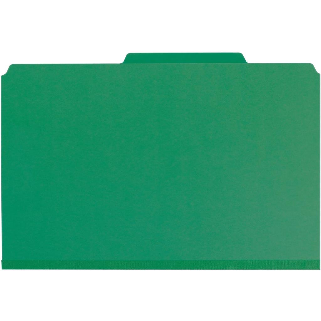 19201 2 Dividers 10 per Box Legal Size 2 Expansion Green Smead PressGuard Classification File Folder with SafeSHIELD Fasteners