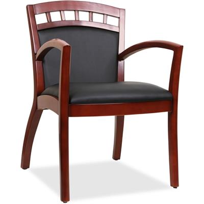 CHAIR,GUEST,WOOD,BLK/CHY