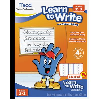 PAPER,RAISED,LEARN TO WRITE