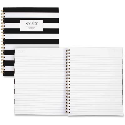NOTEBOOK,CAMBR,B&W STRIPES